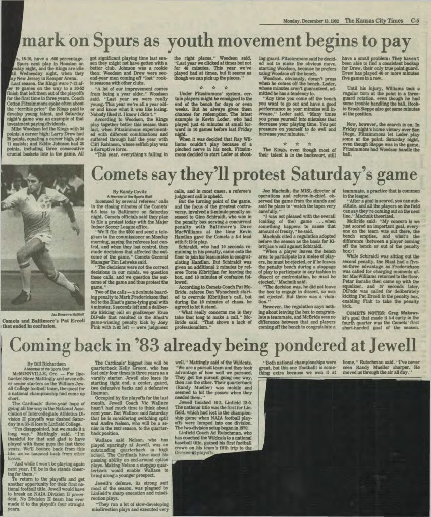 1982 Post Season news articles