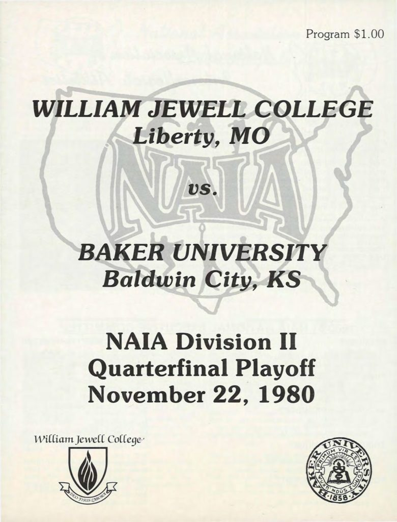 1980 Baker Playoff Program