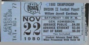 1980 Baker Playoff Ticket