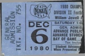 1980 Wilmington Playoff Ticket