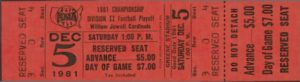 1981 Austin Playoff Ticket 2
