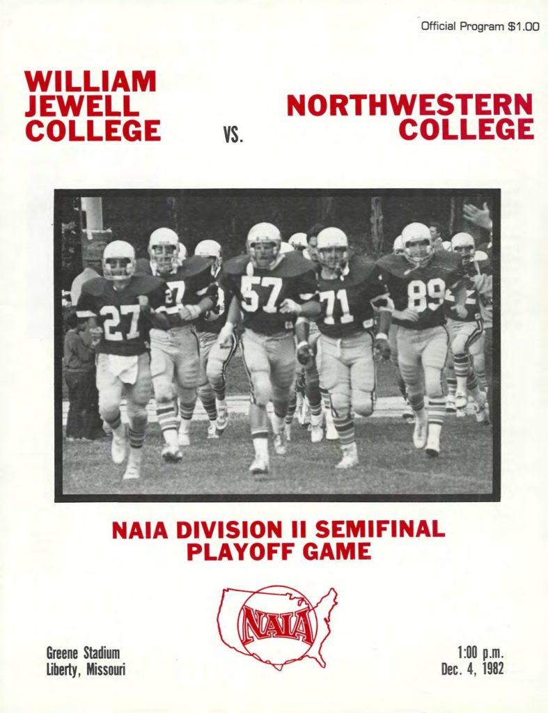 1982 Northwestern IA Playoff Program