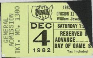 1982 Northwestern IA Playoff Ticket