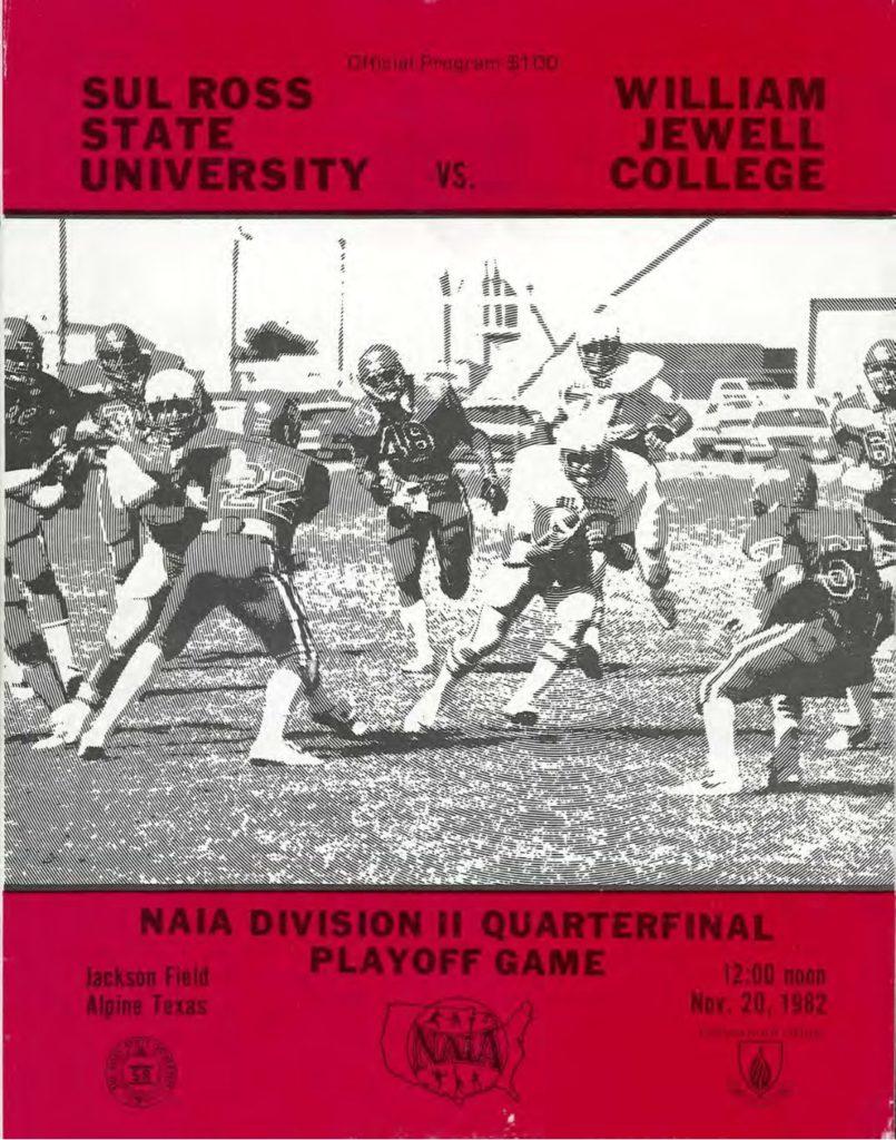 1982 Sul Ross Playoff Program