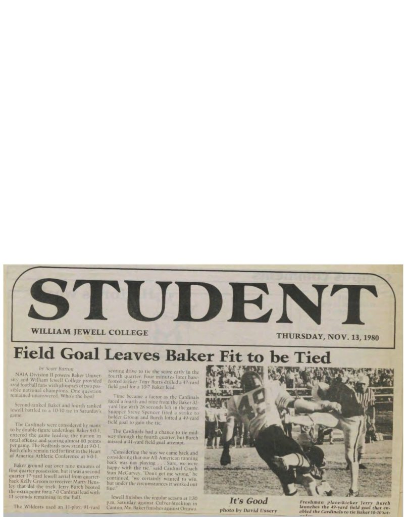 Field Goal Leaves Baker Fit to be Tied - 11131980