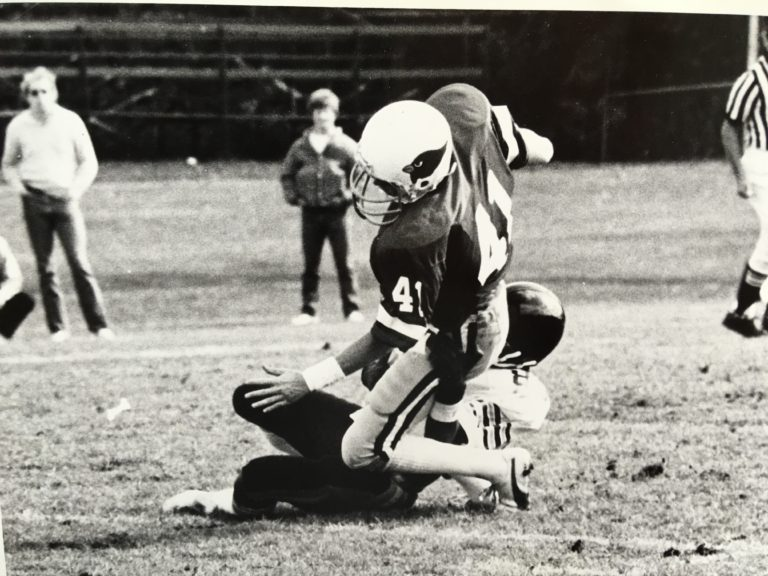This was an interception against Ottawa during our homecoming game in 1981.