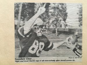Phi Gamma Delta participant, Buffalo Head celebrates after TD...... not sure which game this is.... my best guess is this game was in 1982 at home when we were ranked #1.... so this game occurred before our loss to MANC when we dropped in the rankings. Maybe the Graceland game.