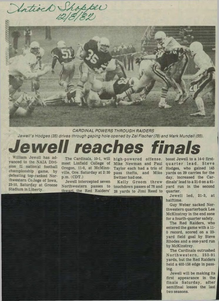 Jewell reaches finals- 12081982