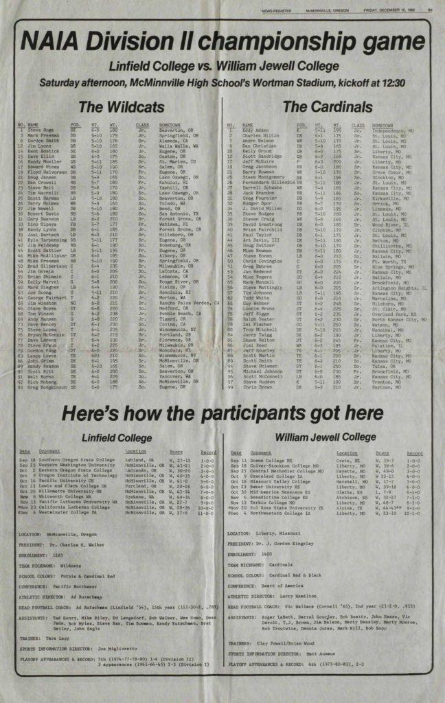 NAIA Division II championship game - 12101982