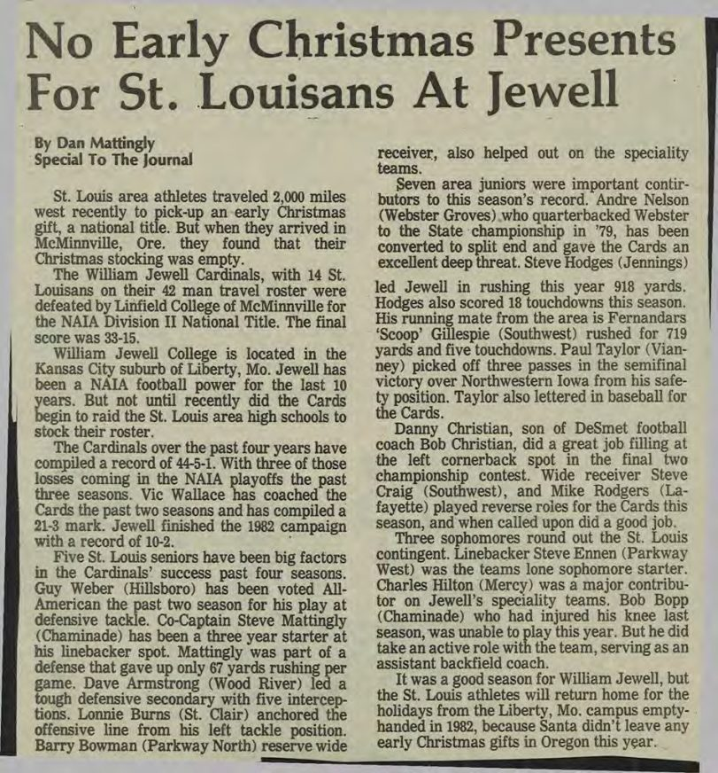 No Early Christmas Presents For St. Louisans At Jewell - 1982